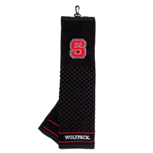NC State Wolfpack Black Embroidered Golf Towel