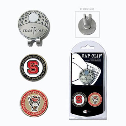 NC State Wolfpack Golf Marker Cap Clip Set