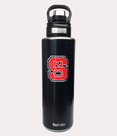 NC State Wolfpack Carbon Fiber Wide Mouth Tervis Water Bottle