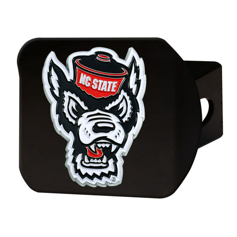NC State Wolfpack Black Full Color Wolfhead Hitch Cover