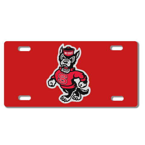 NC State Wolfpack Strutting Wolf Red License Plate