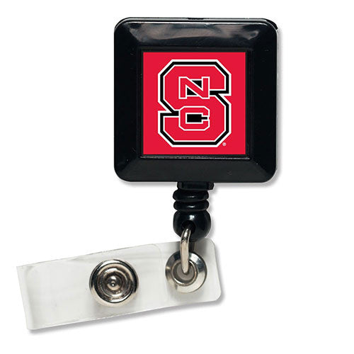 NC State Wolfpack Square Retractable Badge Holder