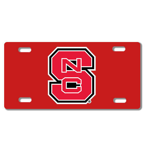 NC State Wolfpack Red Block S Acrylic License Plate