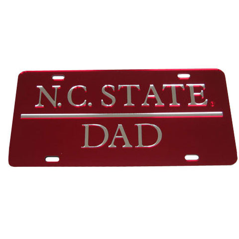 NC State Wolfpack Dad Red License Plate