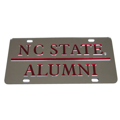 NC State Wolfpack Alumni Silver License Plate
