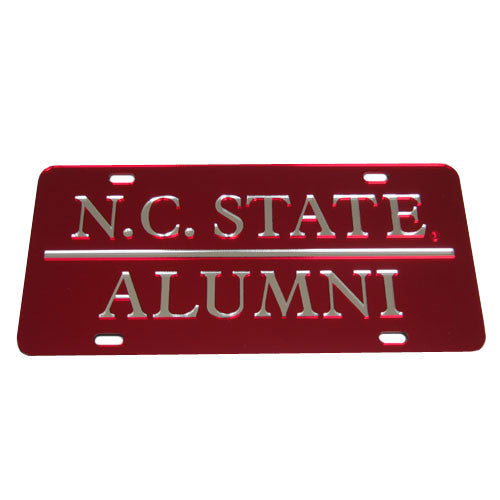 NC State Wolfpack Alumni Red License Plate
