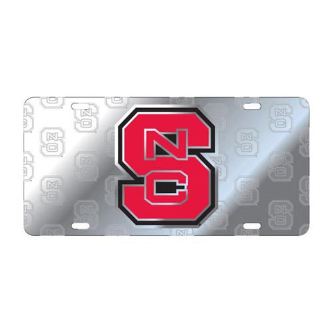 NC State Wolfpack Silver Multi Block S License Plate