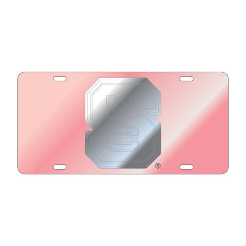 NC State Wolfpack Block S Pink License Plate