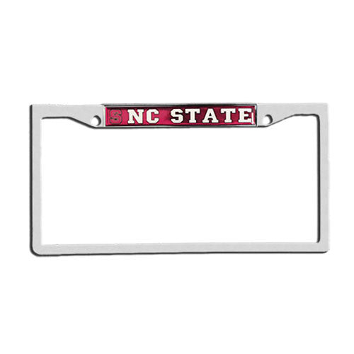 NC State Wolfpack Mirror Domed Top Only License Plate Frame