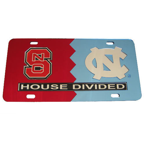 NC State Wolfpack UNC House Divided License Plate
