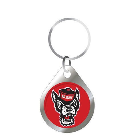 NC State Wolfpack Red Domed Wolfhead Keychain