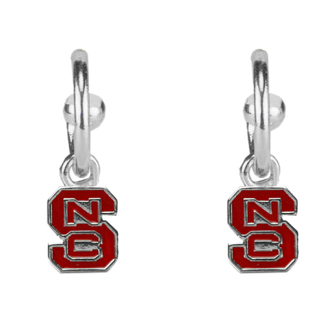 NC State Wolfpack Women's Red Block S Dangle Earrings