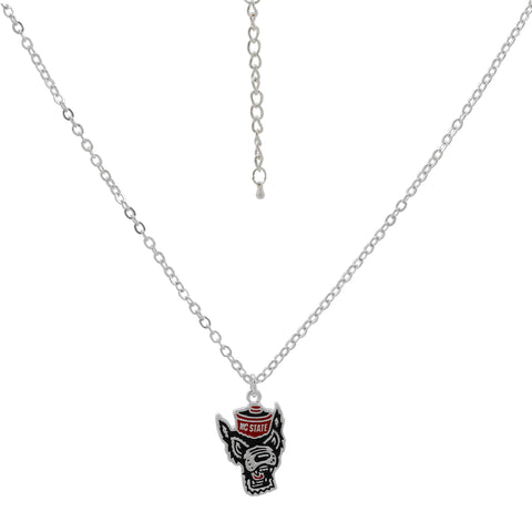 NC State Wolfpack Wolfhead Necklace