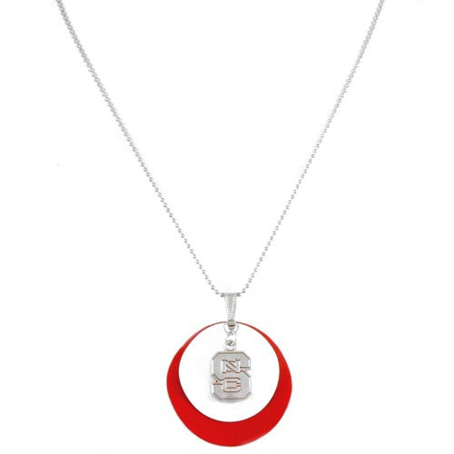 NC State Wolfpack Fan Necklace with Charm