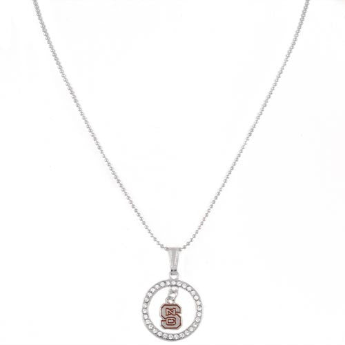 NC State Wolfpack Team Charm Rhinestone Necklace