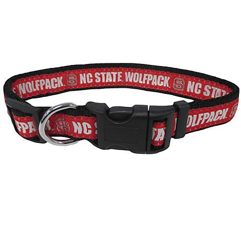 NC State Wolfpack Red Dog Collar