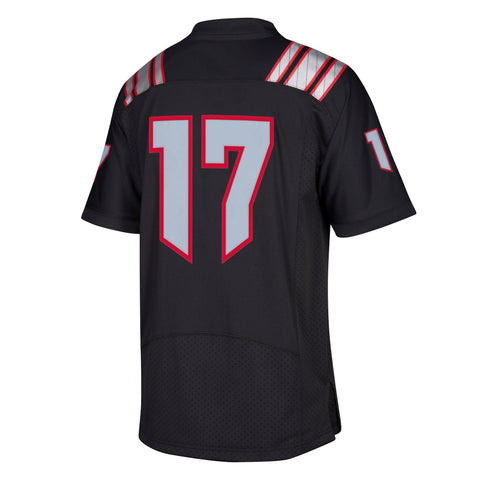 NC State Wolfpack Adidas Black Howl Premier #17 Football Jersey