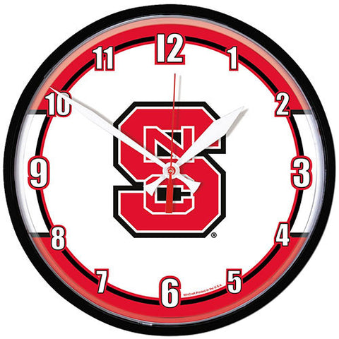 NC State Wolfpack Round Sports Wall Clock