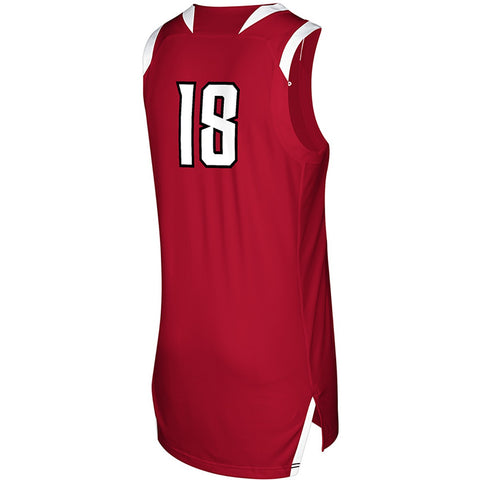 NC State Wolfpack Adidas Youth 2018 Red #18 Basketball Jersey