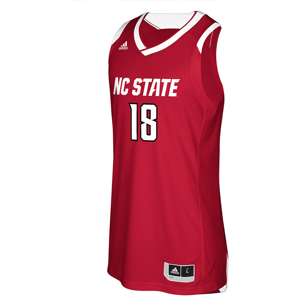 9fd2c07875fc NC State Wolfpack Adidas Youth 2018 Red  18 Basketball Jersey – Red and  White Shop
