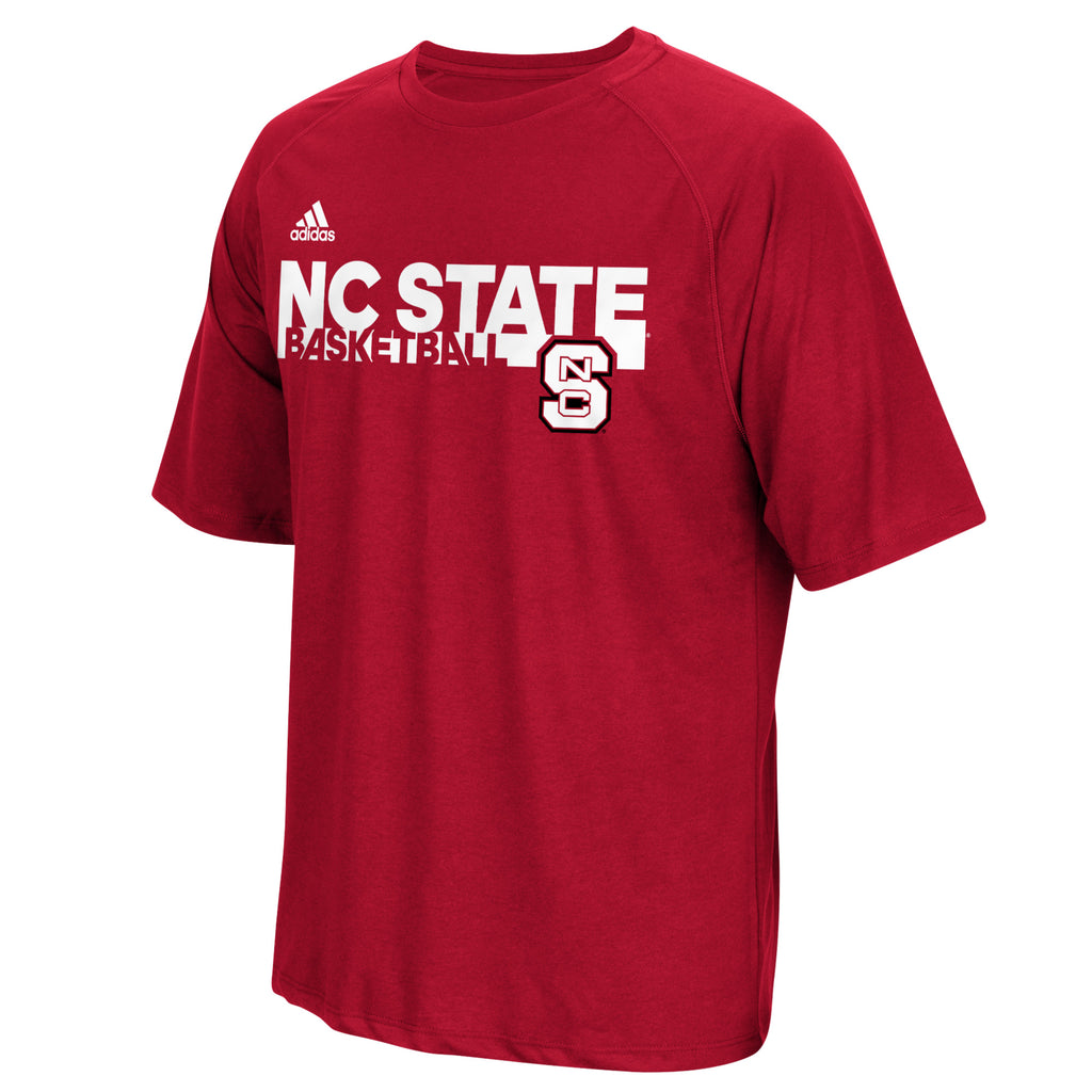 NC State Wolfpack Adidas Red Grind Basketball T-Shirt