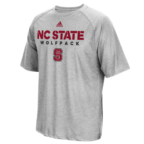 NC State Wolfpack Adidas Grey 2017 Football Sideline Climalite T-Shirt