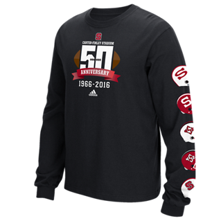 NC State Wolfpack Adidas Carter Finley 50th Anniversary Long Sleeve Shirt