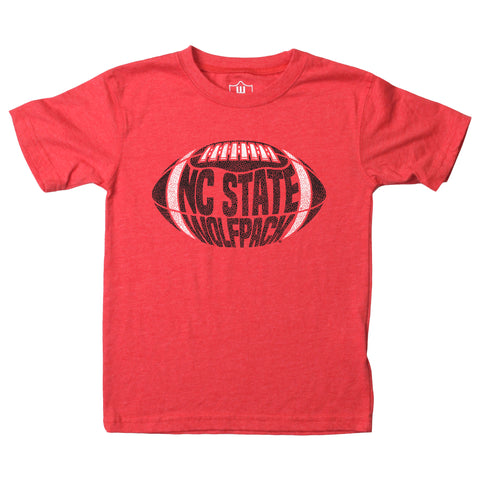 NC State Wolfpack Toddler Heathered Red Wolfpack Football T-Shirt