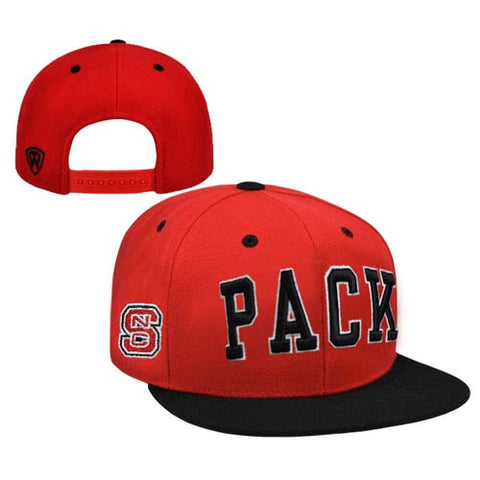 NC State Wolfpack TOW Youth Two Tone 2-TAC Flat Bill Snapback Hat