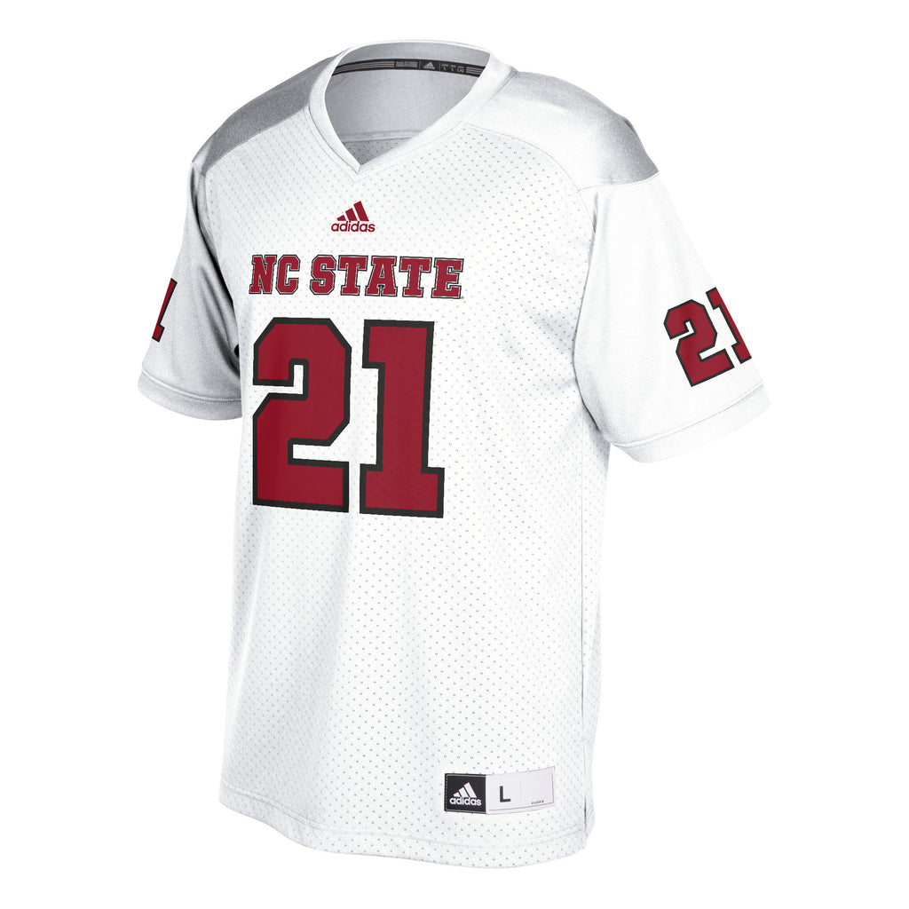 NC State Wolfpack Adidas White #21 Replica Football Jersey