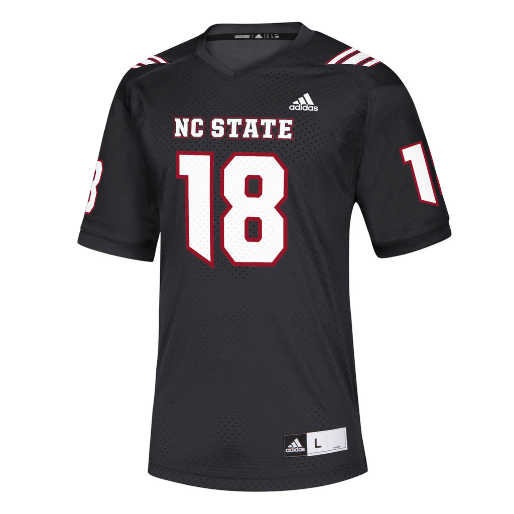 21c50c5cf5c5 NC State Wolfpack Adidas Black 2018  18 Replica Football Jersey – Red and  White Shop