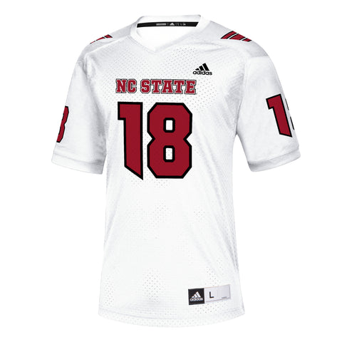 NC State Wolfpack Adidas White 2018 #18 Replica Football Jersey