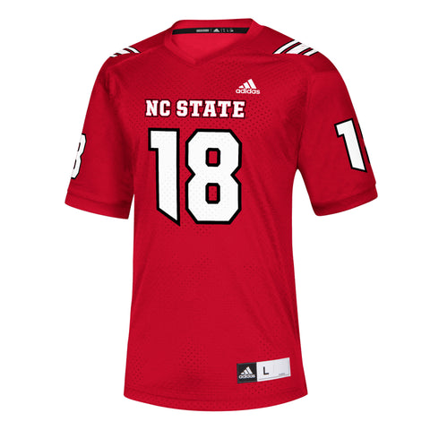 NC State Wolfpack Adidas Red 2018 #18 Replica Football Jersey