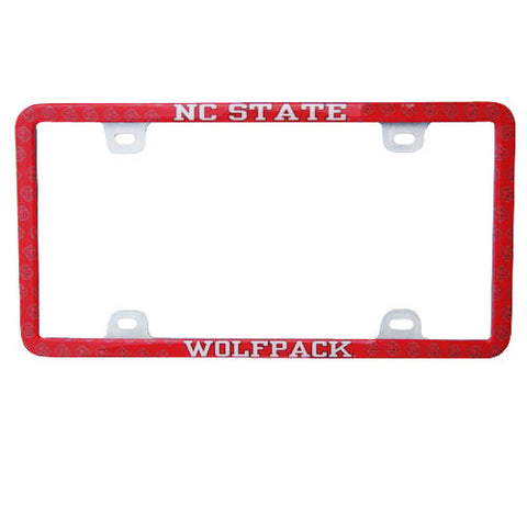 NC State Wolfpack Thin Rimmed Mini Block S License Plate Frame