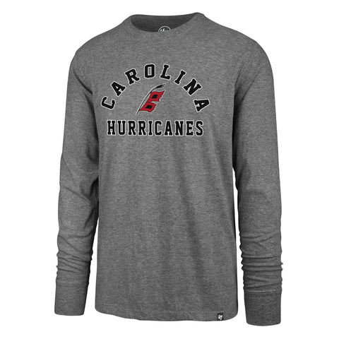 Carolina Hurricanes Slate Grey Varsity Arch Super Rival Long Sleeve T-Shirt