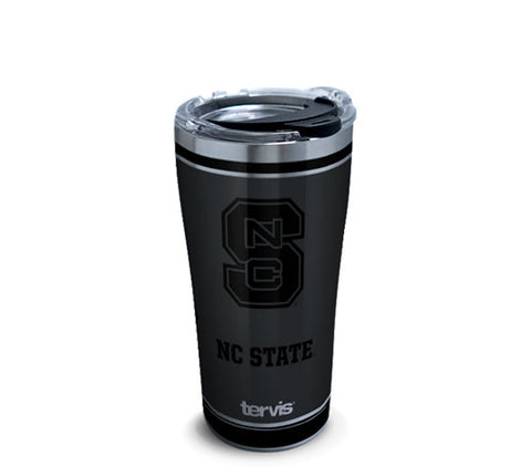 NC State Wolfpack Blackout Stainless Steel Tervis Tumbler w/ Hammer Lid