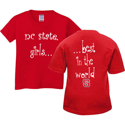 NC State Wolfpack Red Girls Best In The World Youth T-Shirt