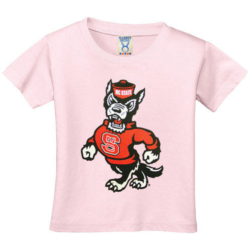 NC State Wolfpack Infant/Toddler Pink Strutting Wolf T-Shirt