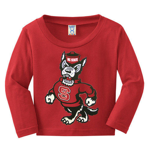 NC State Wolfpack Toddler Red Strutting Wolf Long Sleeve T-Shirt