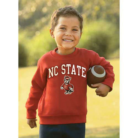 NC State Wolfpack Red Infant/Toddler Signature Strut Wolf Crew Neck Sweatshirt