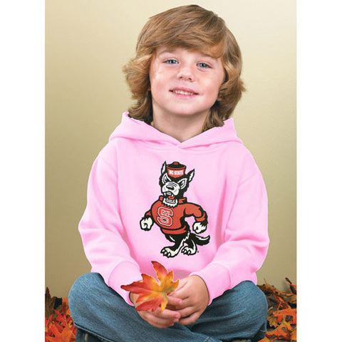 NC State Wolfpack Toddler Pink Strutting Wolf Hooded Sweatshirt