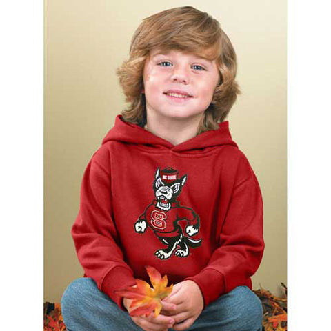 NC State Wolfpack Toddler Red Strutting Wolf Hooded Sweatshirt