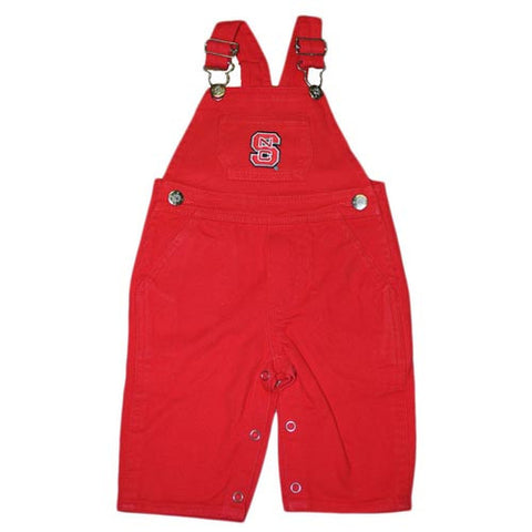 NC State Wolfpack Infant/Toddler Red Denim Overalls