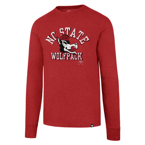 NC State Wolfpack 47 Brand ® Red NC State Slobbering Wolf Long Sleeve T-Shirt