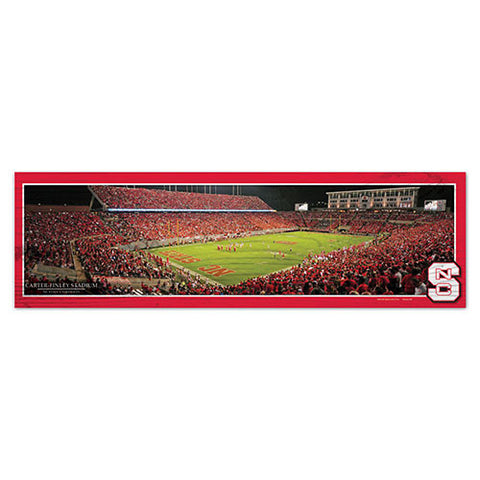 "NC State Wolfpack 9""X30"" Carter Finley Wood Sign"