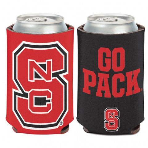 "NC State Wolfpack ""Go Pack"" 2-Sided Can Koozie"