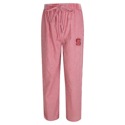 NC State Wolfpack Gingham Pajama Pants