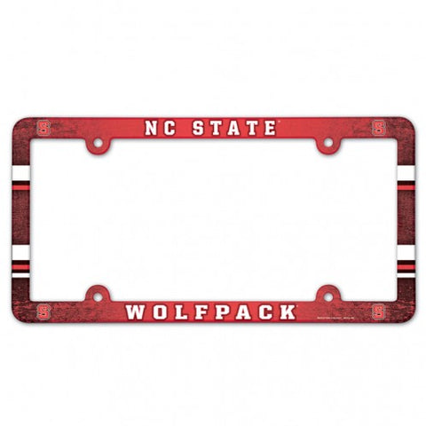NC State Wolfpack Red Plastic License Plate Frame