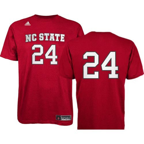 NC State Wolfpack adidas® 2013 Red Basketball #24 Replica T-Shirt