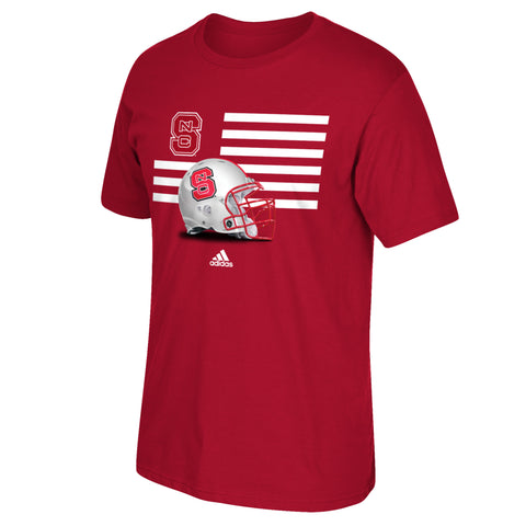 NC State Wolfpack Adidas Youth Red Prevent Defense T-Shirt